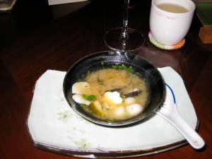 miso soup with seafood, vegetables-Cafe Beautiful-Lawrence