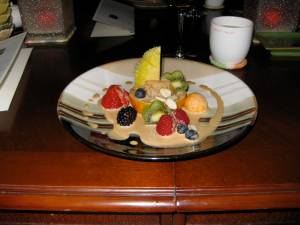 fruit salad with ginger dressing-Cafe Beautiful-Lawrence