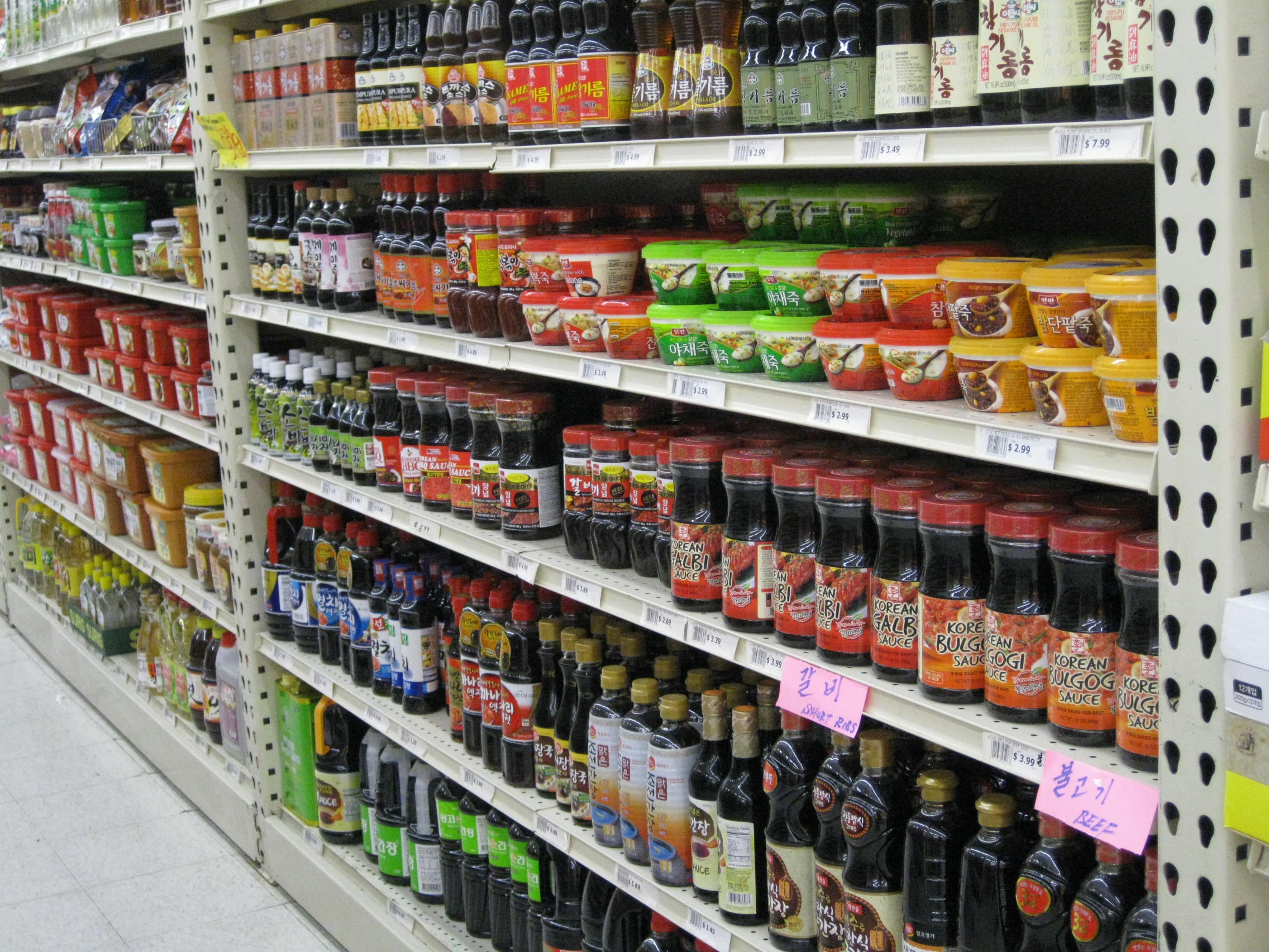 Asian sauces found on grocery store aisle